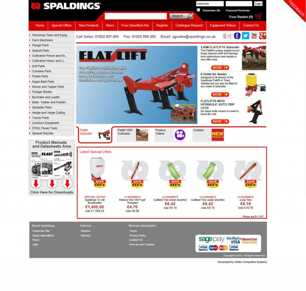 Spaldings Launches New & Improved Website
