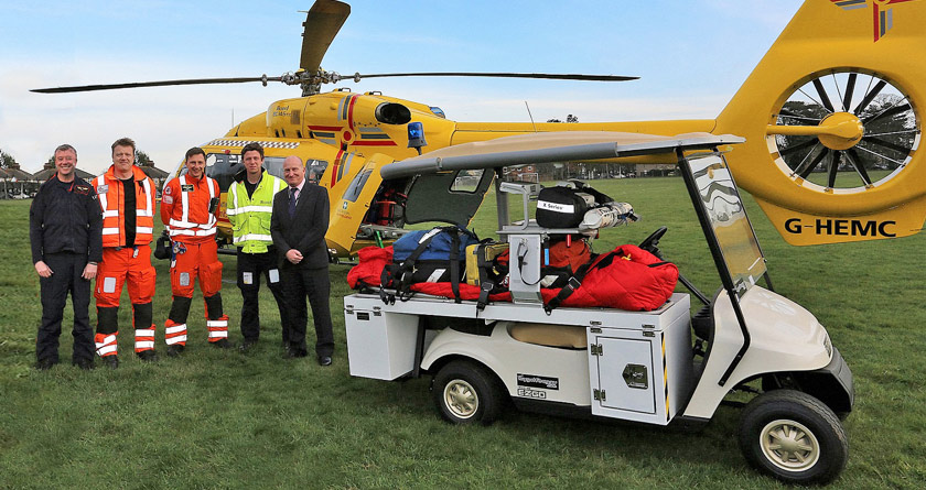 E-Z-GO for Ipswich air ambulance transfers