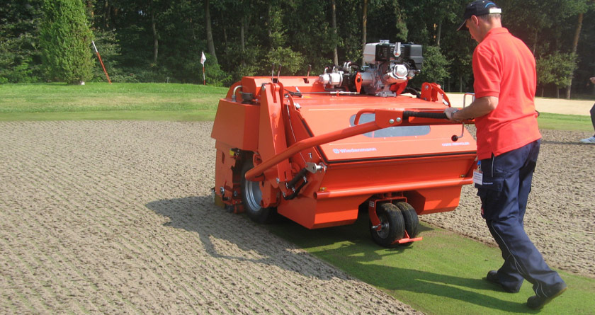 Core recycler saves 40% of top dressing inputs
