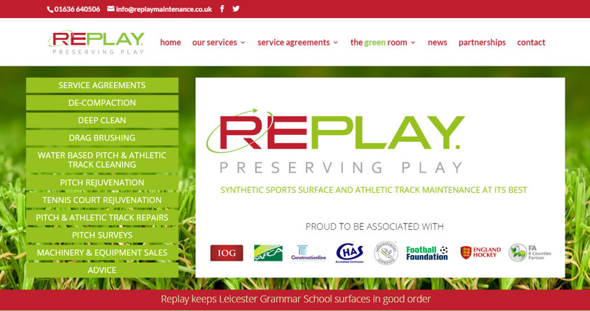 Replay 'rejuvenate' their website