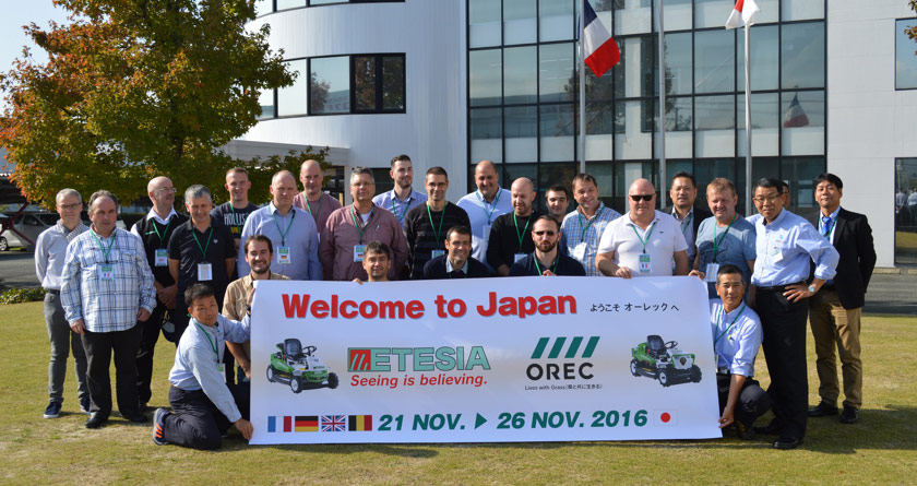 Etesia UK dealers rewarded with Japan trip