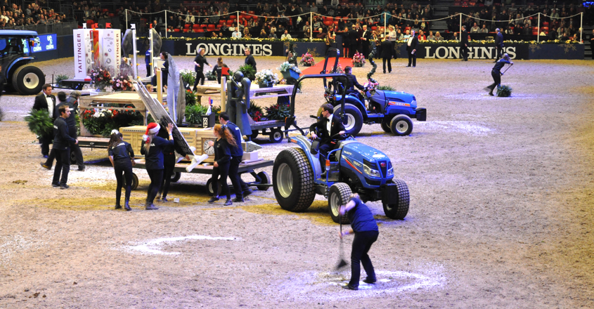 Iseki tractors 'behind-the-scenes' at Olympia
