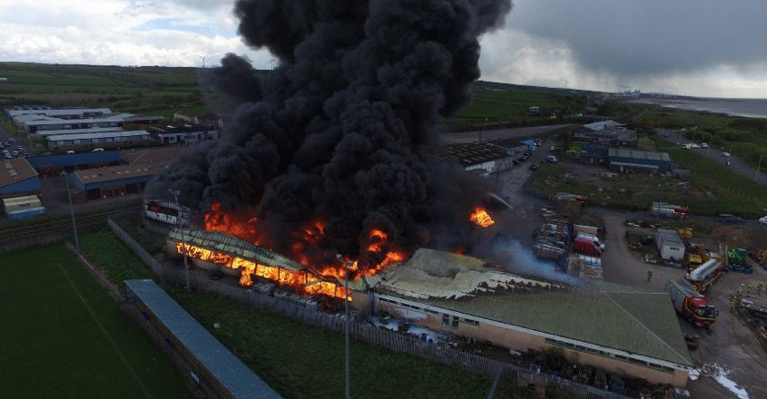 Blaze at SIS Pitches warehouse to be investigated