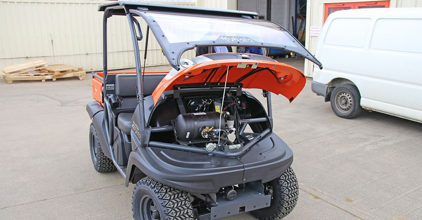 LPG power for Kubota RTV500