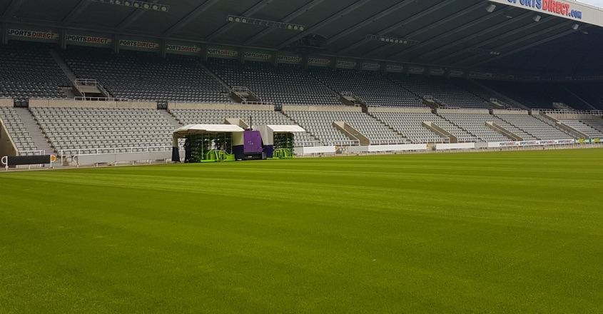 Newcastle's pitch delights stadium manager