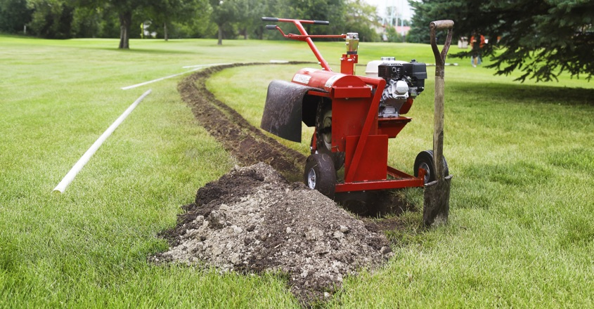 Kwik-Trench's excellent for mini-trenching
