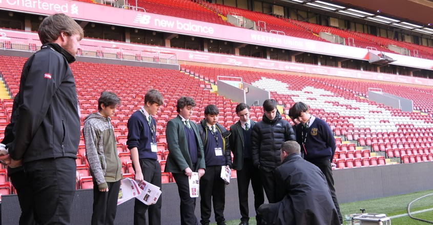 Liverpool FC and IOG stage 'Schools into Stadia'