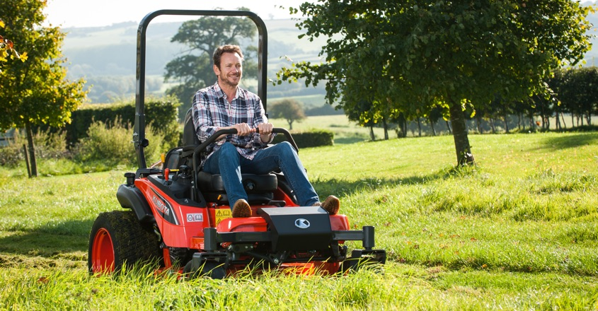 Spring into action with Kubota ride-on mower