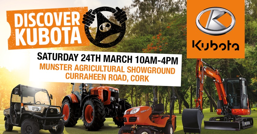 'Discover Kubota' is a first for Ireland