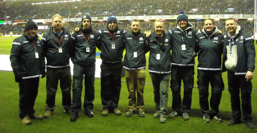 SALTEX winners enjoy Six Nations experience