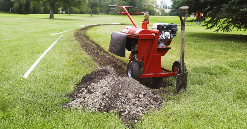 Kwik and easy trenching for golf courses