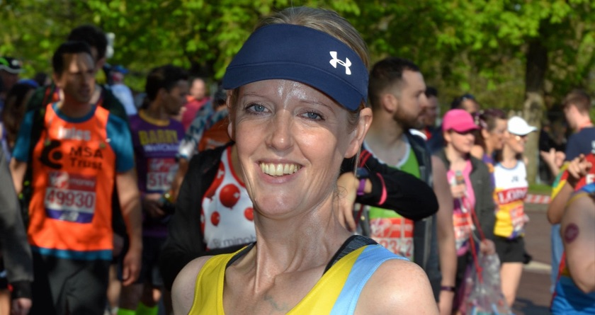 Emma Kilby runs for Cancer UK