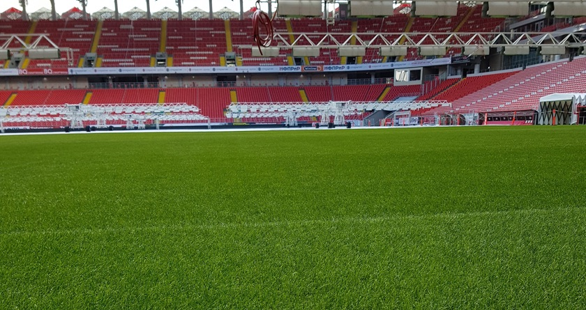 Fertilisers enhance pitches at Russia 2018
