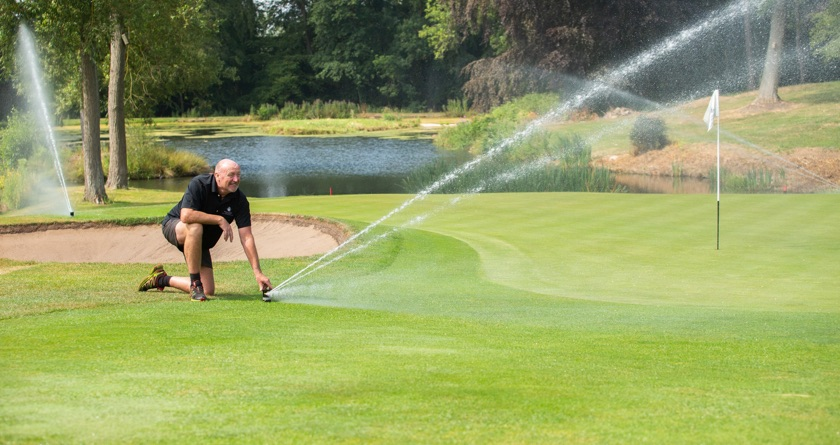 Double irrigation for Breadsall Priory
