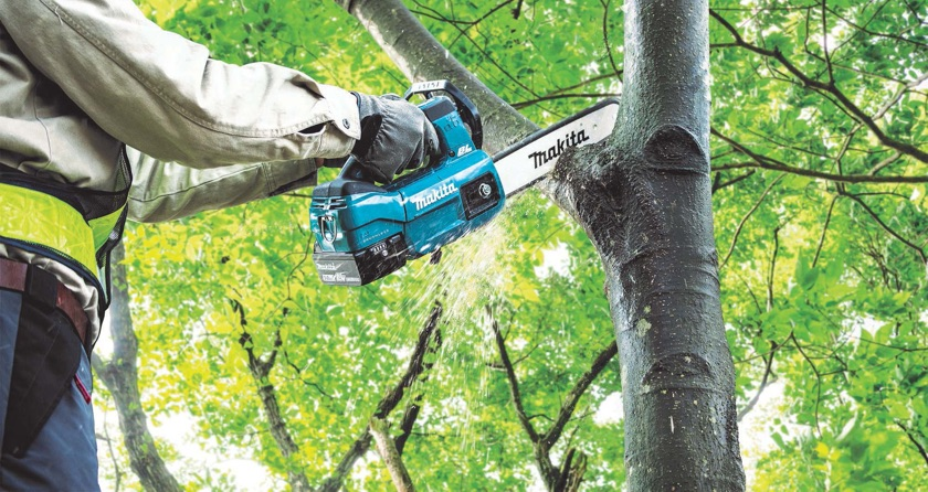 Makita's latest chainsaw design