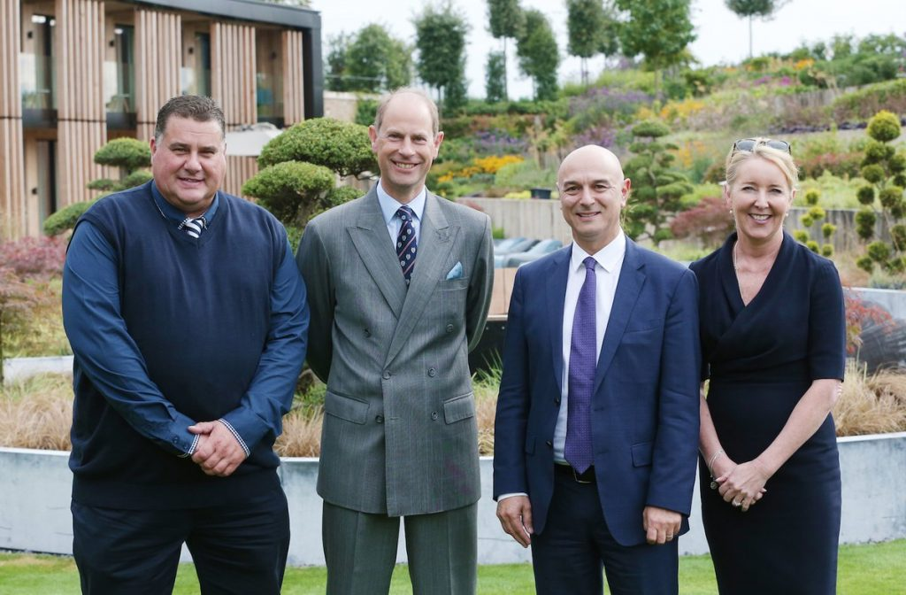 HRH The Earl of Wessex visits Hotspur Way