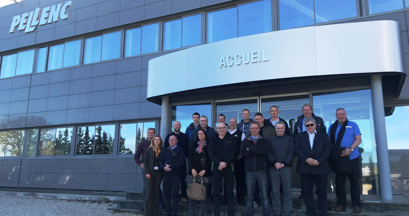 Pellenc dealers visit French factory