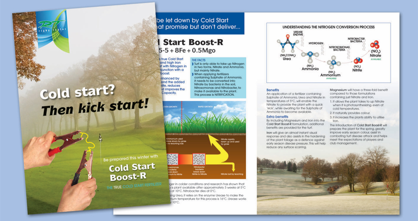 Rigby Taylor's new Cold Start Boost-R Fertiliser