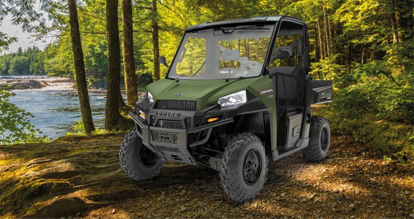 polaris ranger diesel out now turf business. Black Bedroom Furniture Sets. Home Design Ideas
