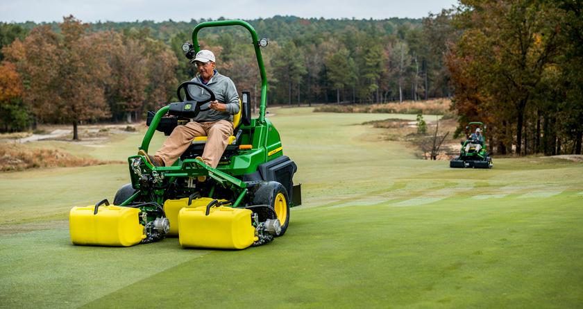John Deere previews precision mowers