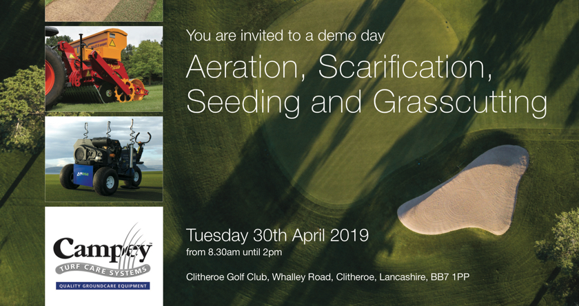 Campey announce 2 golf demo days