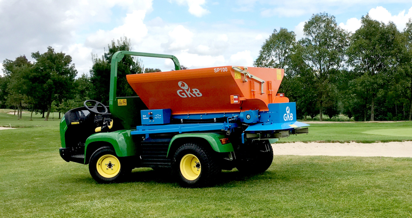 New GKB Sandspreader for Parkers Pitches