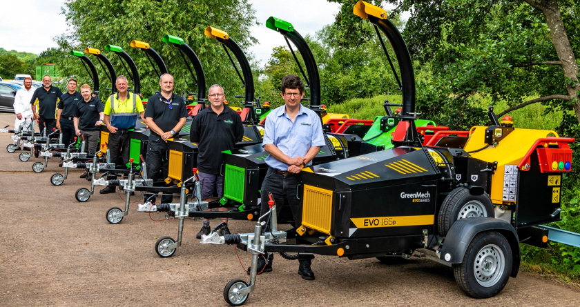 First fleet of EVO 165 woodchippers sent off
