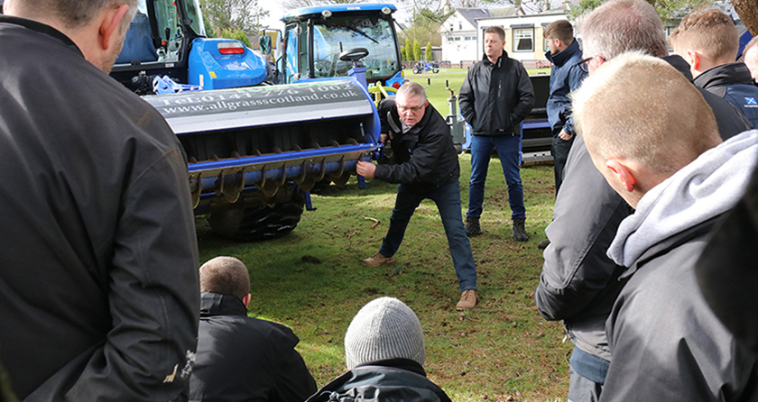 Scottish turfgrass demo day goes down a storm