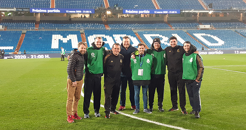 SALTEX College Cup winners prepare pitch for El Clásico