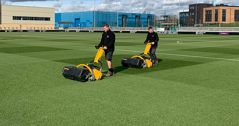 Loughborough University Stadium delighted with INFINICUT mowers and cassettes
