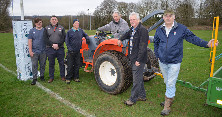 Rigby Taylor and Maidstone Rugby pitch in to improve playing surfaces
