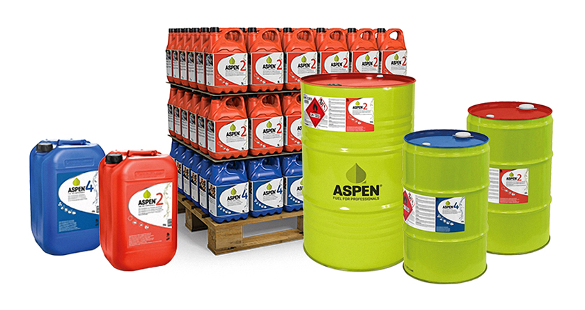 New 25L and 60L package sizes from Aspen Fuel