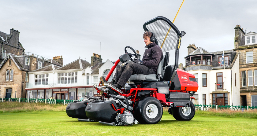 Two of the industry's first all-electric Toro greensmowers for St Andrews Links