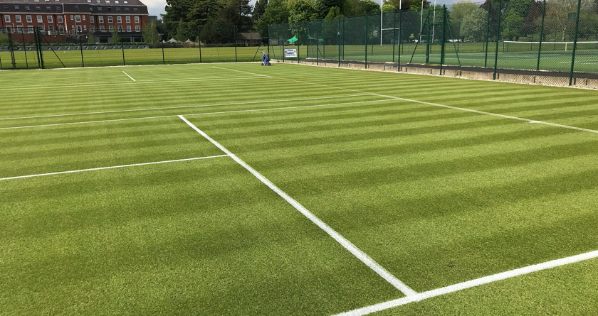 INFINICUT and UltraGroomer double deliver quality courts at The Lensbury Club