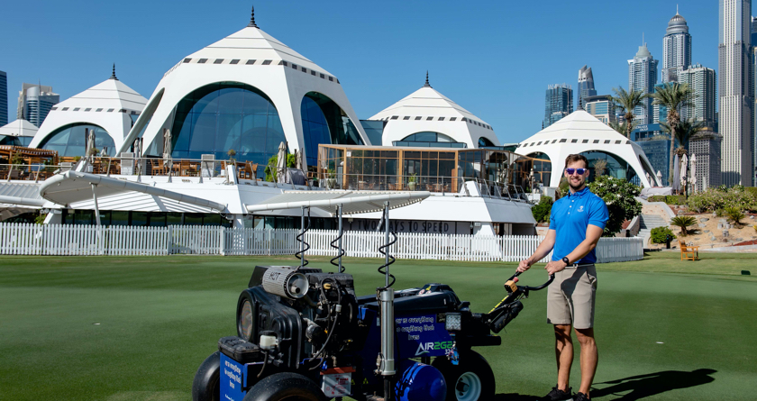 Emirates GC use the Air2G2 to keep the Middle East's top course in prime condition