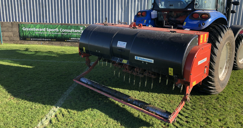 Bath contractor Greensward supporting local clubs with additional aeration