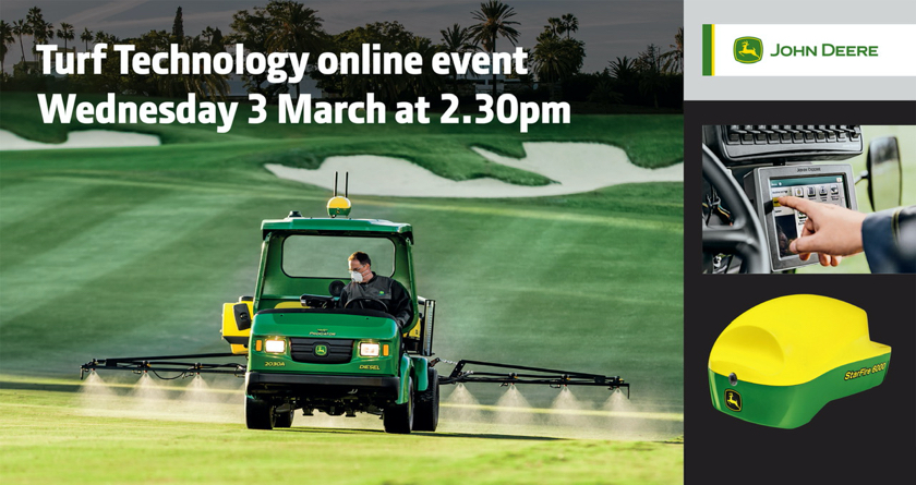 John Deere to host Turf Technology online event during #GroundsWeek