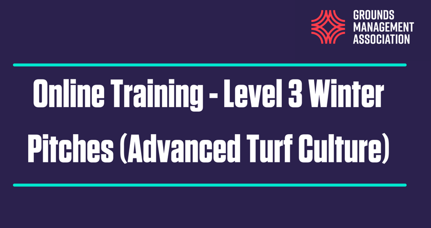 The GMA expands its online training with new 'Level 3 Winter Pitches' course
