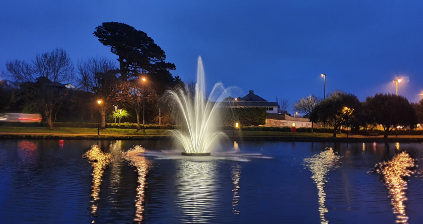New Otterbine restores fountain to former glory at Newquay Boating Lake