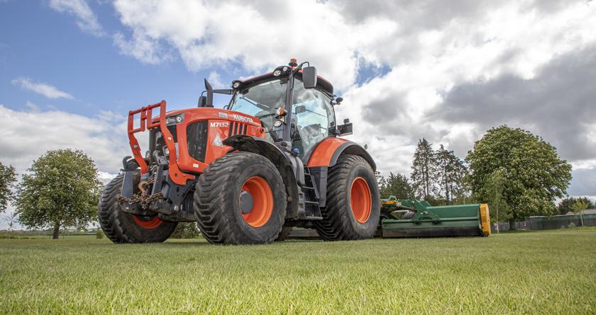 Kubota M7132 treads lightly for ODS Parks
