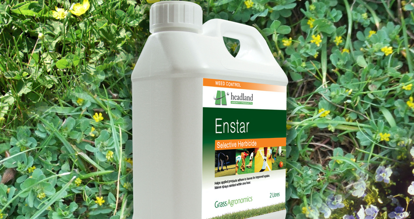 Headland's Enstar provides concentrated control for a wide range of weed species
