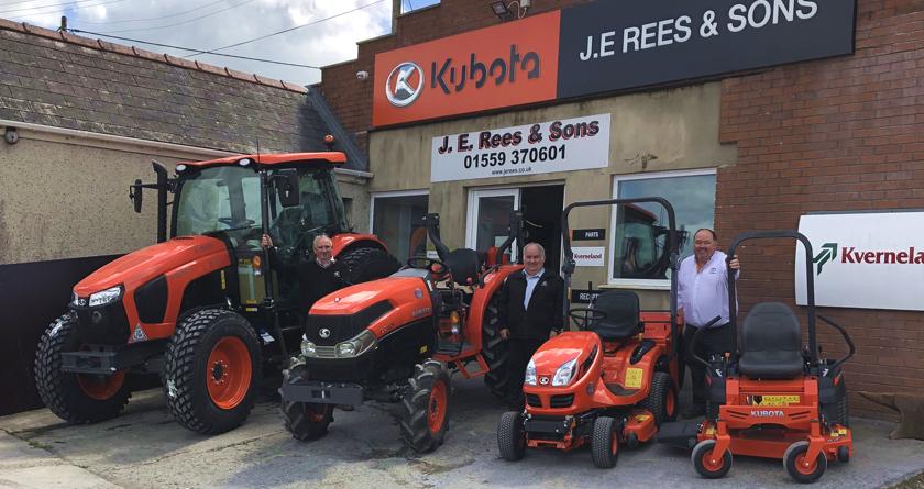 JE Rees takes on Kubota ground care equipment