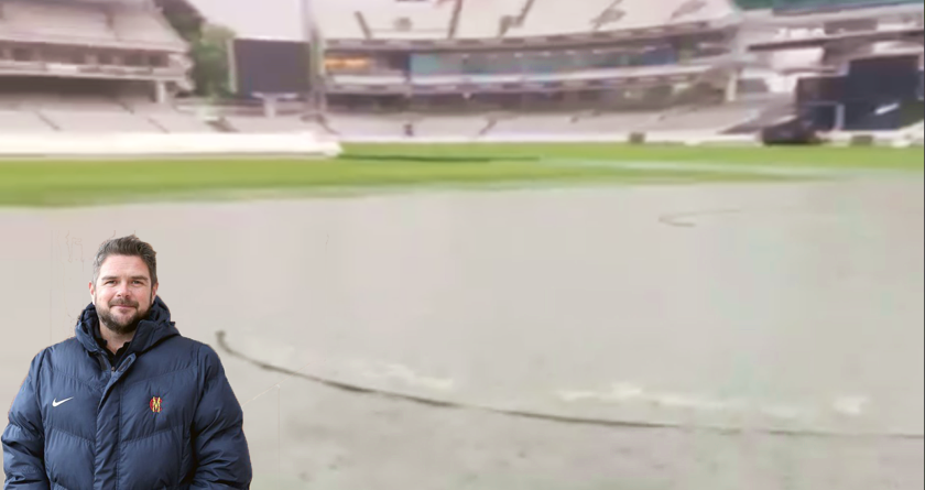 Watch – Dealing with a flash flood at Lord's