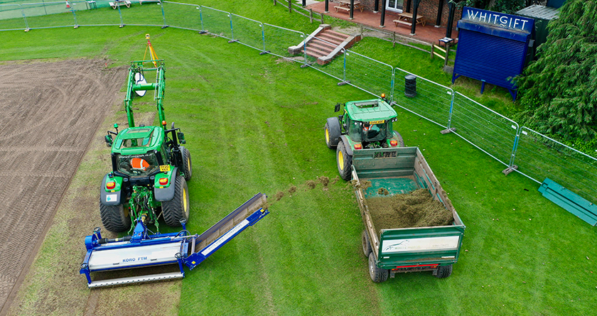 White Horse Contractors turn to Koro FTM for hybrid pitch renovations