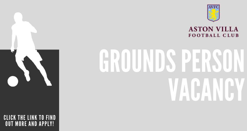 Aston Villa FC seeking a Grounds Person